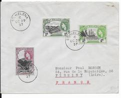 1957 - STE HELENE - ENVELOPPE De ST HELENA => FIRMINY (LOIRE) - Sainte-Hélène