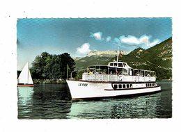 Cpsm ANNECY Le Fier Et L'île Des Cygnes Bateau Lac Tournette  éd Mouchet 1379 - Annecy
