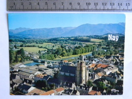 CP (64) Pyrénées-Atlantiques - NAY - Vue Panoramique Aérienne Sur Le Centre Et L'église St Vincent - France