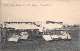 "¤¤   -   NIORT  -  Semaine D'Aviation (Mars 1910)  -  Au Garage  - Monoplan Blériot "" Le Scarabée ""  -  Avion  -  ¤¤ - Niort"