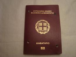Greece Biometric Passport Reisepass Passeport Missing The 1st Photo Page #5 - Documents Historiques