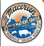 1ere SUR DELCAMPE CAMEMBERT  LE MACERIEN LAITERIE COOPERATIVE DE SIGNY L'ABBAYE TRES RARE BON ETAT - Cheese