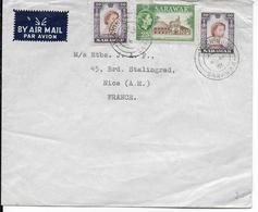 1961 - SARAWAK - ENVELOPPE De HUCHING => NICE - Sarawak (...-1963)