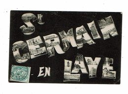 Cpa SAINT GERMAIN EN LAYE Multivues Dans Les Lettres - St. Germain En Laye
