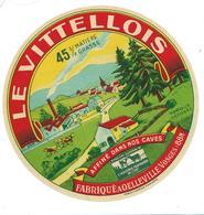 ETIQUETTE CAMEMBERT LE VITTELLOIS A OELLEVILLE VOSGES - Cheese