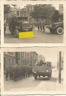 ABO Armée Belge D'Occupation En Allemagne Années 50. 2 Photos Originales Du Défilé Blindés GM C15T.A.( Ex USA) RARE ! - Vehicles