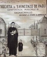 BAGNACAVALLO CONFERENZA SOCIETA' DI S.VINCENZO DE PAOLI  MANIFESTO  48x55 - Diplomi E Pagelle