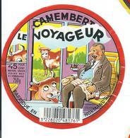ETIQUETTE CAMEMBERT LE VOYAGEUR FABRIQUE EN NORMANDIE - Cheese