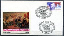 """First Day Cover Germany 1976 Michel Nr.895 Ersttagsbrief""""200 Jahre Unabhängigkeit Der USA """" 1 FDC - Unabhängigkeit USA"""