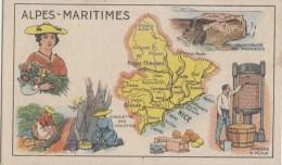 Chromos - Chromo Alpes-Maritimes - Cueillette Violettes - Huile - Savon - Publicité Pastilles Salmon - Bon-Point Ecole - Unclassified