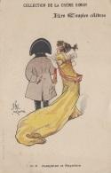 Histoire - Napoléon Et Joséphine - Illustrateur - Publicité Beauté Crème Simon - Historia