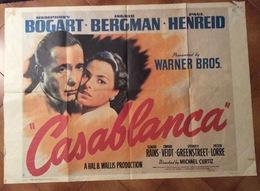 FILM CASABLANCA MANIFESTO ORIGINALE CONSERVAZIONE SPLENDIDA  RRR   98x140 - Diplomi E Pagelle