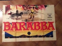 FILM BARABBA MANIFESTO ORIGINALE IN DUE PARTI CONSERVAZIONE SPLENDIDA RRR  A DISPOSIZIONE PER INFORMAZIONI - Manifesti