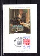 """FRANCE 1987 """" LOUIS PASTEUR """" Sur Carte Maximum En Soie. N° YT 3394. Parfait état CM - Louis Pasteur"""