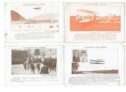Lot 4 Cpa L'Aviation Par L'Image Produits Nyrdahl Aéroplane Vol Du Wilbur Wright PAU Traversée Manche Appareil Blériot - Zonder Classificatie