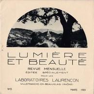Lumière Et Beauté Revue 1931 N°3 La Drôme Mollans,La Rochette-du-Buis,Aulan,Montbrun-les-Bains TBE - Books, Magazines, Comics