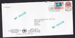 United Nations Geneva: Cover To Netherlands, 1988, 2 Stamps, Sent From Libya 'By Pouch', Uncommon (damaged) - Genève - Kantoor Van De Verenigde Naties