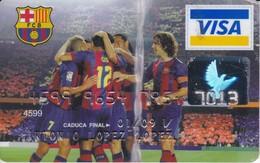 TARJETA VISA DEL FUTBOL CLUB BARCELONA (BARÇA- FOOTBALL) DOBLADA - Unclassified