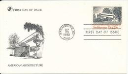 USA FDC American Architeture Washington DC. 30-9-1982 - Premiers Jours (FDC)