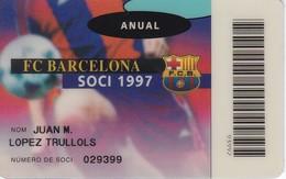 CARNET DE SOCIO DE FUTBOL CLUB BARCELONA AÑO 1997 ANUAL (FOOTBALL) BARÇA (LA CAIXA) - Unclassified