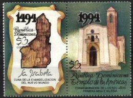 DOMINICAN REPUBLIC, 1994, MONUMENTS, YV#1155-55, MNH - Dominican Republic