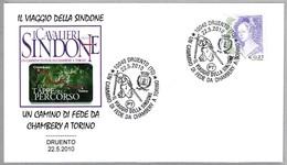 EL VIAJE DE LA SABANA SANTA CHAMBERY-TORINO - The Journey Of Holy Shroud. Druento, Torino, 2010 - Cristianismo