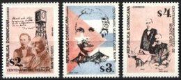 DOMINICAN REPUBLIC, 1995, ANNIVERSARIES ANS EVENTS, YV#1170-72, MNH - Dominican Republic