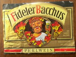 Etiket       FIDELER BACCHUS   PERLWEIN - Etiquettes