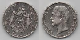+ FRANCE  + 5 FRANCS 1855 BB + TRES BELLE + - J. 5 Francs