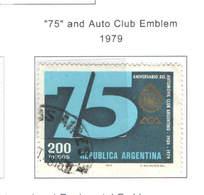 Argentina PO 1979 Auto Club Scott.1241+See Scan On Scott.Page - Argentina