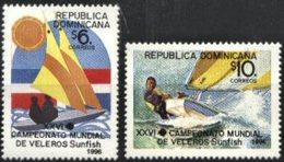 DOMINICAN REPUBLIC, 1996, SPORTS, SAILING WORLD CHAMPIONSHIP, YV#1239-40 MNH - Dominican Republic