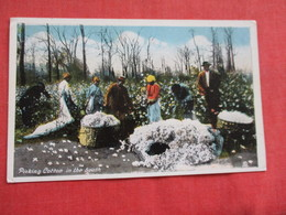 Black Americana Picking Cotton In The South--- Ref 2937 - Black Americana