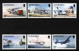 GUERNSEY - 1989 AIRPORT ANNIVERSARY SET (6V) SG 456-461 FINE MNH ** - Guernsey