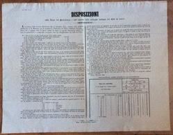 """LOMBARDO VENETO  """"DISPOSIZIONI TASSE DEI PORTA-LETTERE MEDIANTE DEI BOLLI DA LETTERE""""  26/3/1850 NASCONO I FRANCOBOLLI - Manifesti"""