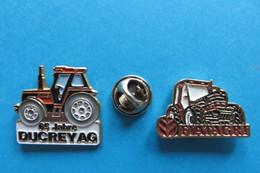 Lot De 2 Pin's, Tractor, Trattore, Traktor, Ducrey AG, FIATAGRI, Machine Agriculture - Transportation