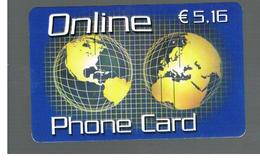 ITALIA (ITALY) - REMOTE -  ONLINE - GLOBE                           - USED - RIF. 10964 - Schede GSM, Prepagate & Ricariche