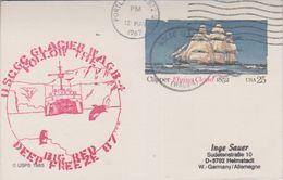 USA 1987 Ship Glacier / Follow The Big Red / Operation Deep Freeze Postal Stationery Ca 12 May 1987 (38464) - Poolshepen & Ijsbrekers