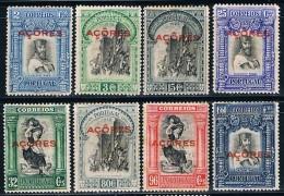 Açores, 1928, # 266/7, 271, 273/4, 277/8, 280, Alguma Ferrugem, MH - Azores