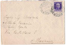 QS40  Storia Postale Regno 1930 - Annullo Frazionario BAZZANO (11-9) Su Lettera Per Modena - 1900-44 Vittorio Emanuele III