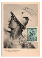 GF Carte Maximum 109, Italie Italia Posta Italiane 1952 Mercurio, III Censimento Industriale E Commerciale - Cartes-Maximum (CM)
