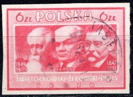 POLAND 1947 Polish Culture - 6z. Swietochowski, Zeromski And Prus (writers) FU - Ohne Zuordnung