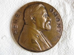 Medaille Henri Omont. Bibliothèque Nationale 1932 Par H. Dropsy - France