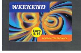ITALIA (ITALY) - REMOTE -  BREAK - WEEKEND    - USED - RIF. 10973 - Schede GSM, Prepagate & Ricariche