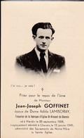 Souvenir JJG Né à Wardin Tué Cherain (Gouvy) Durant Offensive 1945 Ww2 - Documents