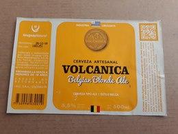 """Uruguay Etiqueta Cerveza Artesanal Volcanica """"Belgian Blonde Ale"""" - Cerveza"""