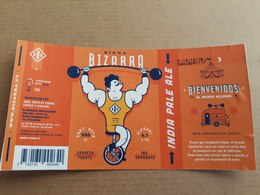 "Uruguay Etiqueta Cerveza Artesanal Bizarra ""Indian Pale Ale"" - Beer"