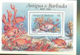 ANTIGUA & BARBUDA   1303 MINT NEVER HINGED SOUVENIR SHEET OF FISH-MARINE LIFE ; Corals - Fishes