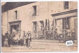 CENDRICOURT- MANOEUVRES DE 1906- PASSAGE DU 11 EME CHASSEUR AU CAFE PARISIEN ET A L EPICERIE-MERCERIE- USAGEE- 2 SCANS - France