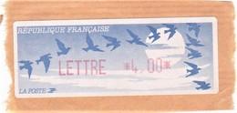 France Distributeur Type C LISA YT 175   Imp. Rouge - 1990 Type «Oiseaux De Jubert»