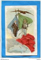 ITALIE -FRANCE 1903-Président Français Et Roi D'italie-  Drapeaux Survolé Par Un Aigle Sur Les  2 Pays - Réceptions